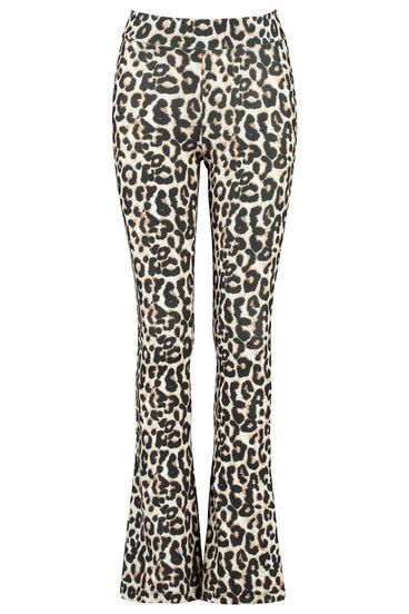 Flared broek all-over print