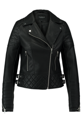 Leather look jas Jony