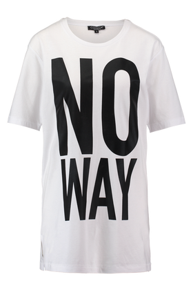 Long length T-shirt met tekst