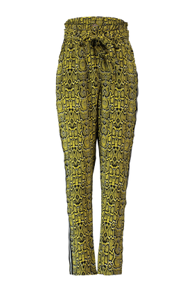 High waist broek met all over panterprint