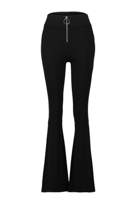 Pantalon Flare Flow avec zip detail