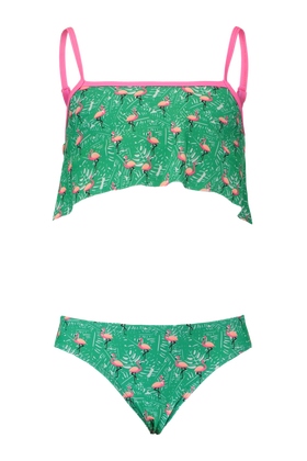 Bikini met all over flamingo print