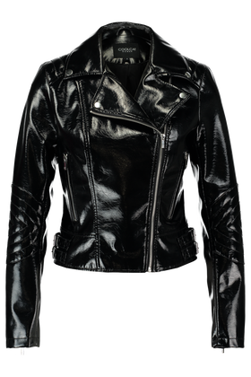 Leather look jas Kickey
