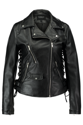 Leather look jas Kmotor