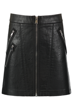 Leather look rok Olcay