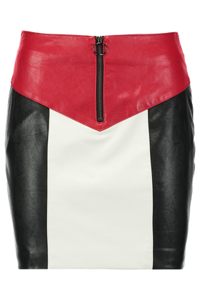 Leather look rok Opublock
