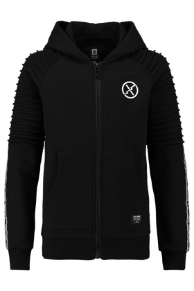 Vest met tape detail en pintucks